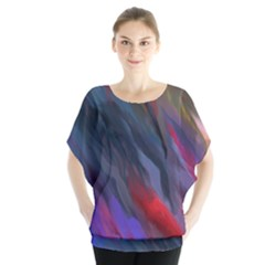 Abstract Paint Painting Watercolor Batwing Chiffon Blouse