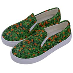 Carnations Flowers Seamless Kids  Canvas Slip Ons by Vaneshart
