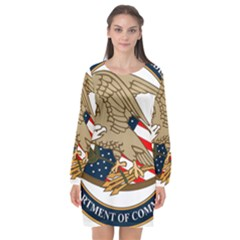 Seal Of United States Patent And Trademark Office Long Sleeve Chiffon Shift Dress  by abbeyz71