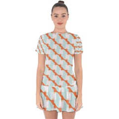 Wallpaper Chevron Drop Hem Mini Chiffon Dress