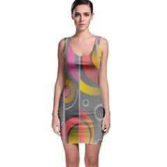 Abstract Colorful Background Grey Bodycon Dress