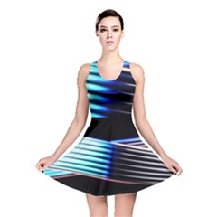 Motion Line Illustrations Reversible Skater Dress
