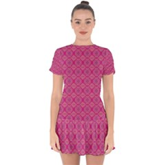 Background Texture Pattern Mandala Drop Hem Mini Chiffon Dress by HermanTelo
