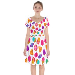 Candies Are Love Short Sleeve Bardot Dress by designsbymallika
