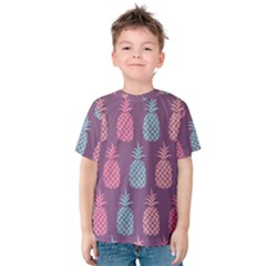 Pineapple Wallpaper Pattern 1462307008mhe Kids  Cotton Tee