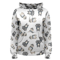 Cute Seamless Pattern With Koala Panda Bear Women s Pullover Hoodie