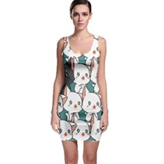 Seamless-cute-cat-pattern-vector Bodycon Dress