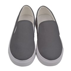 Just Grey - Women s Canvas Slip Ons