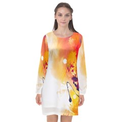 Autumn Long Sleeve Chiffon Shift Dress