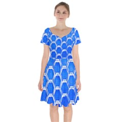 Hexagon Windows Short Sleeve Bardot Dress by essentialimage